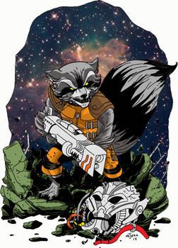 Rocket Raccoon To Color 3
