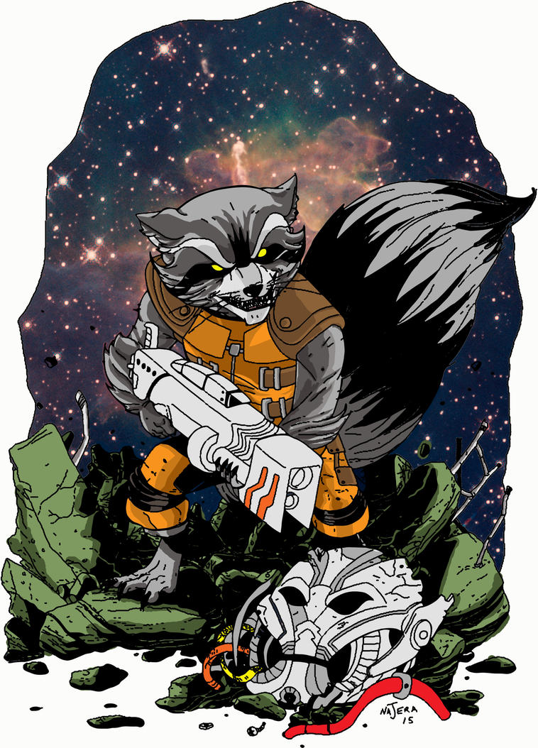 Rocket Raccoon To Color 3 by HELLISHSINESTRO