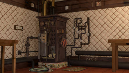 Soviet Steampunk Boiler by melsikay