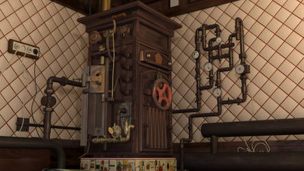 Soviet Steampunk Boiler 3 by melsikay