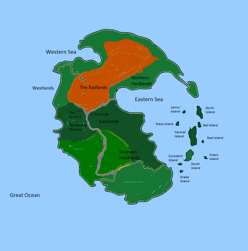 Map of Pangaea by Orca217