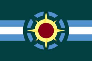 Flag of the Praxosaurian Republic by Orca217