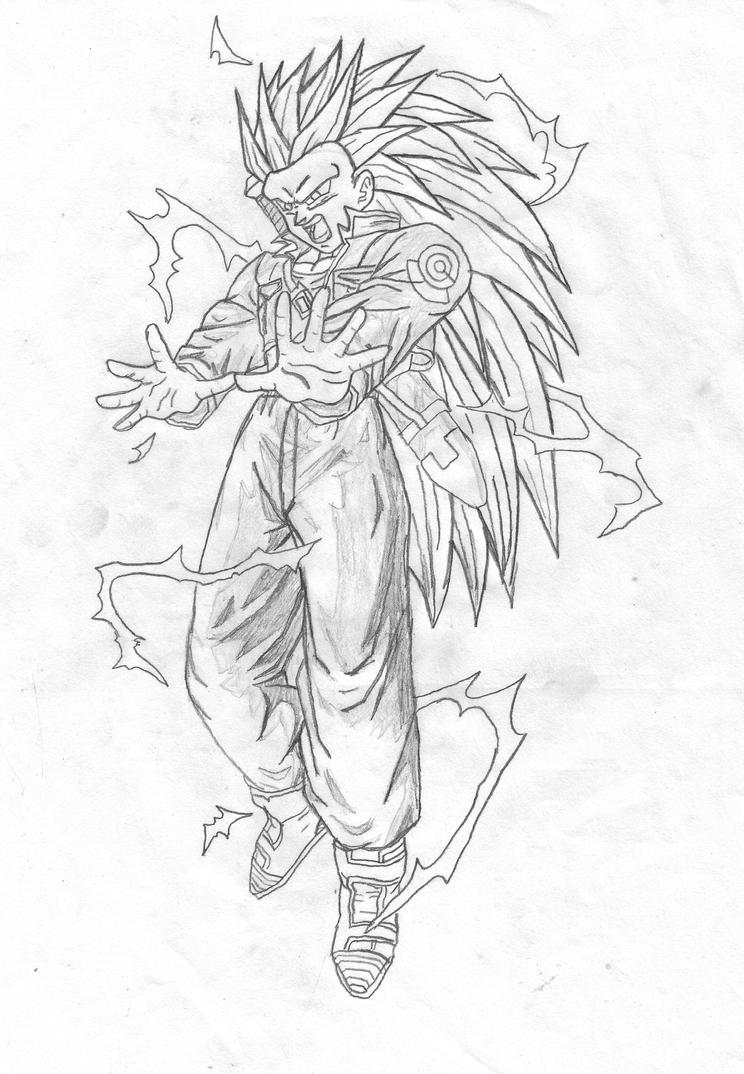 Trunks super saiyan 2 coloring pages coloring pages for Super saiyan trunks coloring pages