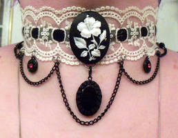 Flower Cameo Choker by LadyMidnight81