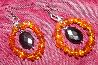 Amber Earrings by LadyMidnight81
