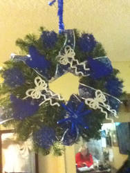 Cobalt Christmas Wreath Side 1 by LadyMidnight81