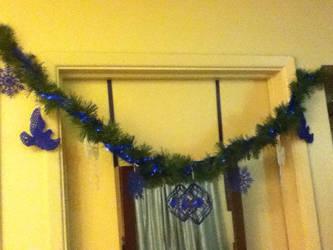 Cobalt Christmas Garland by LadyMidnight81