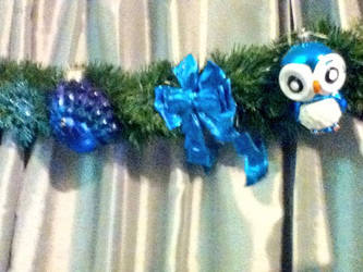 Peacock Christmas Garland Detail 1 by LadyMidnight81