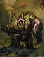 Death Guard Helbrute by AKIMBLYA