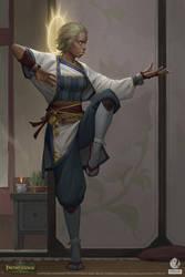 Pathfinder: Kingmaker - Aasimar Monk by AKIMBLYA