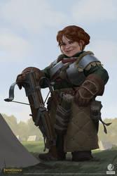 Pathfinder: Kingmaker - Dwarf Archer by AKIMBLYA