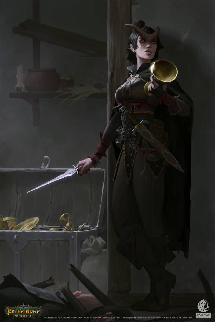 Pathfinder: Kingmaker - Tiefling by AKIMBLYA