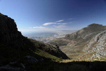 Hiking Up Table Mountain by locked-inside