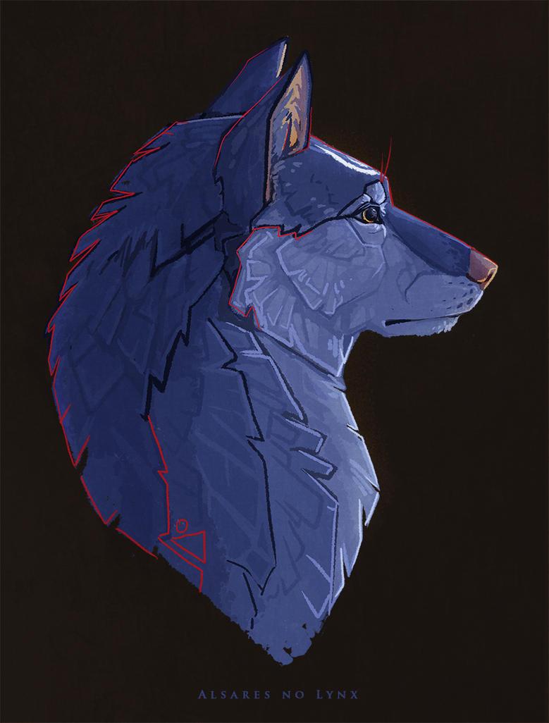 lunar wolf by AlsaresNoLynx