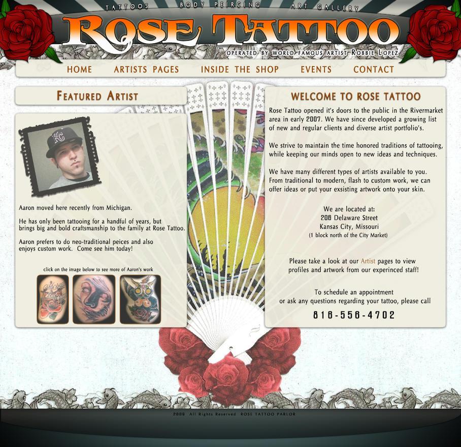 Tattoo website template questionnaire