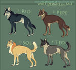 Adoptables: Wolves I (SOLD) by WrendingRae