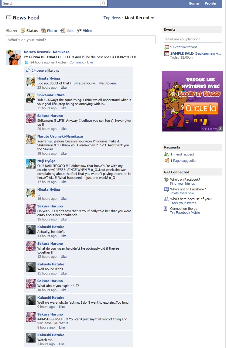 Naruto's Facebook part1 by The-Monkey-is-red