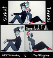 HOMESTUCK: KARKAT-TEREZI Gift Magnets 2 by RidiculousRandomHero