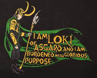 I am Loki of Asgard ~ Paper by RidiculousRandomHero