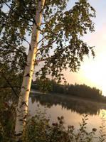 Sunset in Pirkkala, Finland by Saari-Dreams