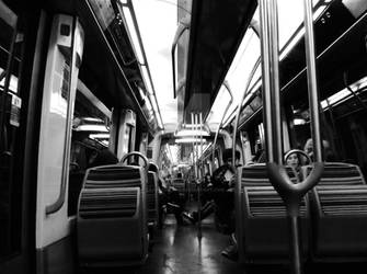 On the metro, Paris by Saari-Dreams