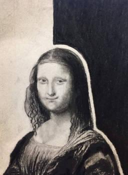 Charcoal and Pencil: Mona Lisa