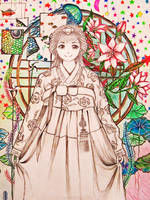 Color pencil/ pencil: Random Korean Stuff..