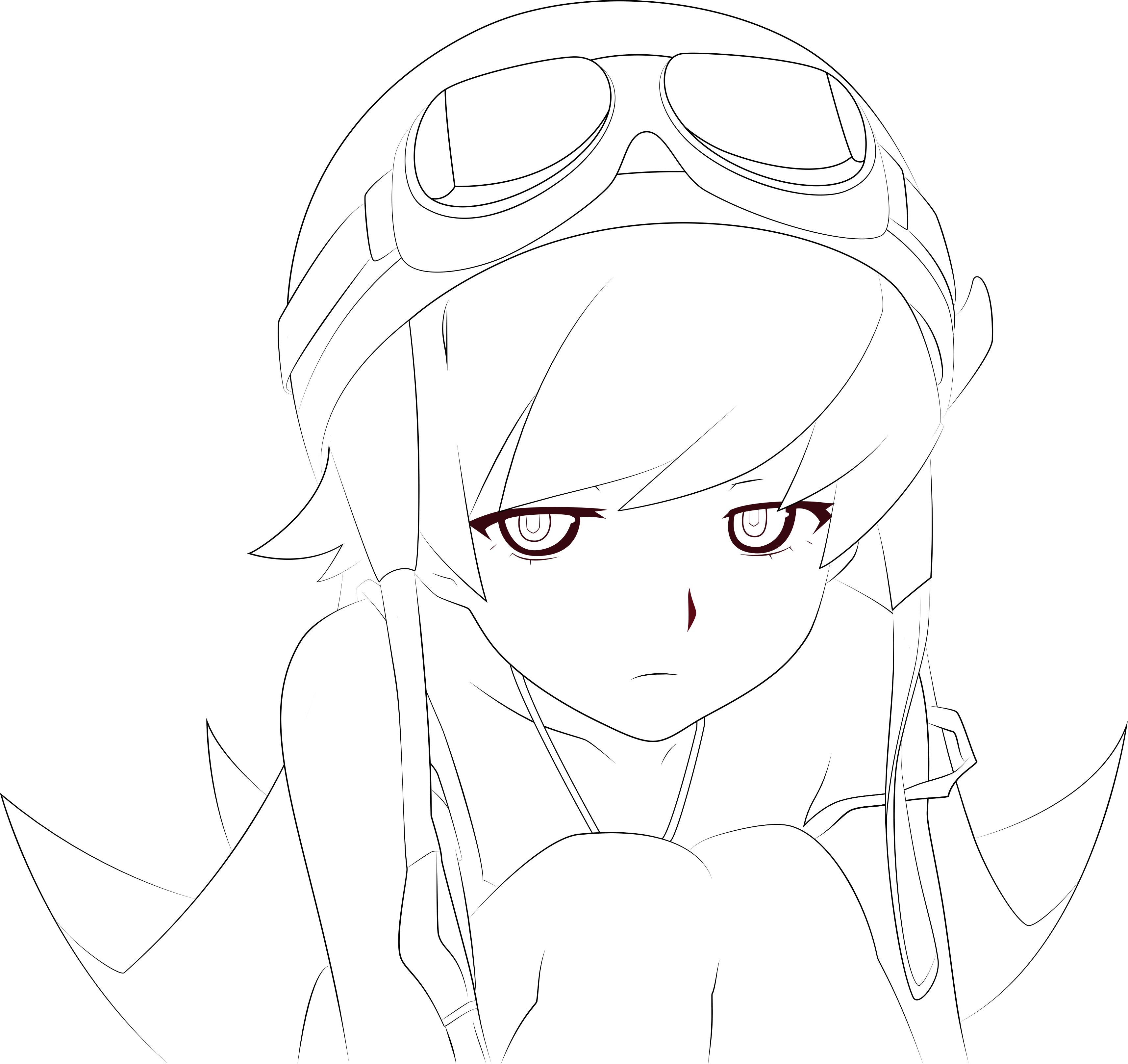 Bakemonogatari: Shinobu Vector Outline By YuukiON On