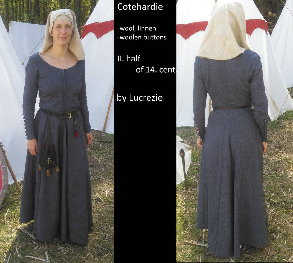 14th century lady dress by MedievalJunkie on DeviantArt