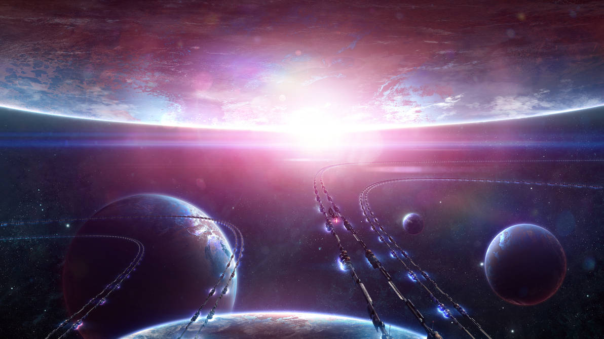 Space Highway by Alienphysique