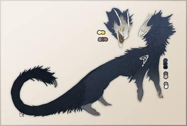 Binturong Quill Dragon [CLOSED] by Tawnwen