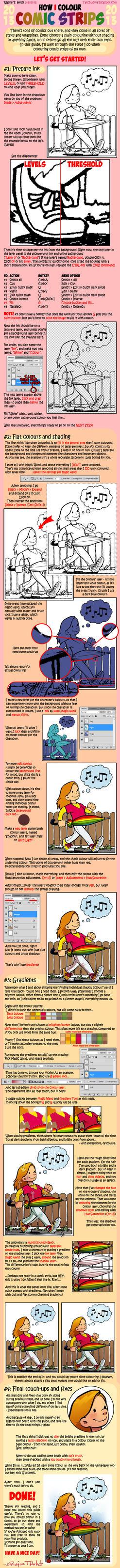 Tutorial - How I colour comic strips by Tatchu