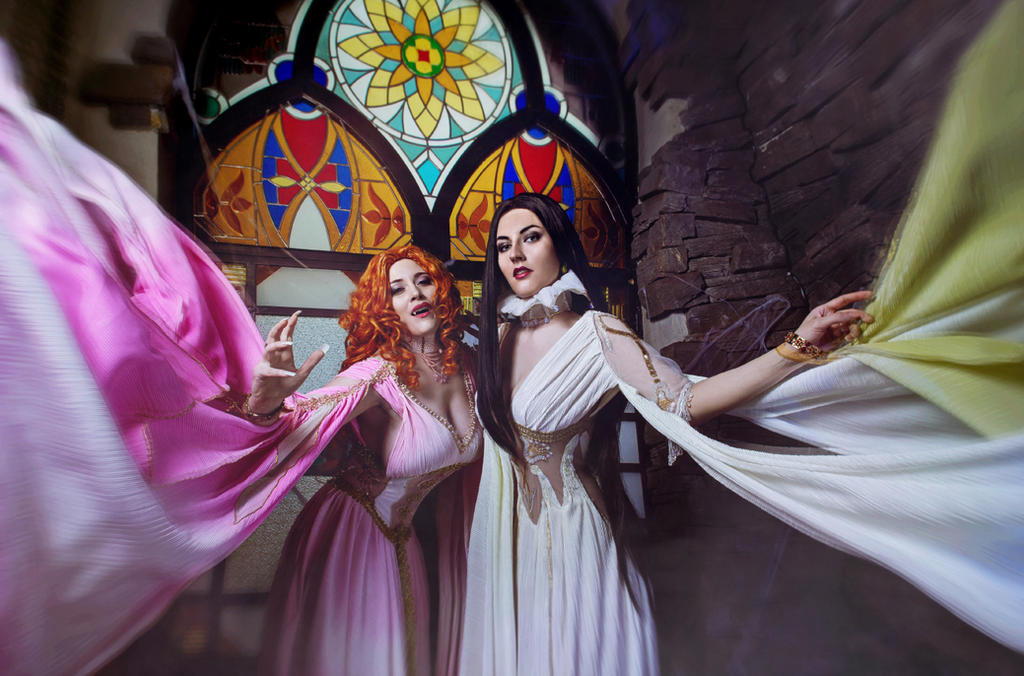 The Brides of Dracula. Aleera and Verona by Afemera