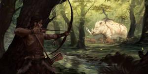 Boar forest god thingie