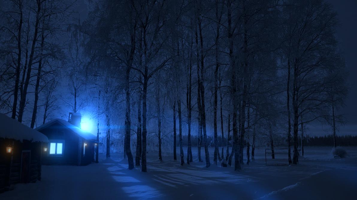 Cold Winter Night Wallpaper HD By GuncaPMV