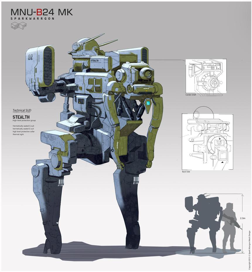 MNU B24MK Mech Concept by WarrGon