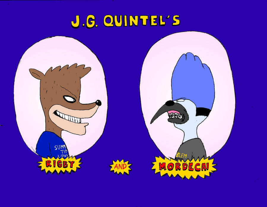J.G. Quintel's Rigby and Mordecai by Ballisticfury