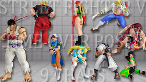 Street Fighter V - Time Over Poses 9 Chars (Down)