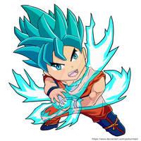 [+Video] Chibi Super Saiyan Blue Goku [Redbubble] by JackyLimArt