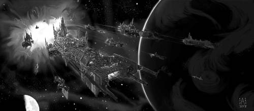 Space marine fleet (other version) by RAScarpate