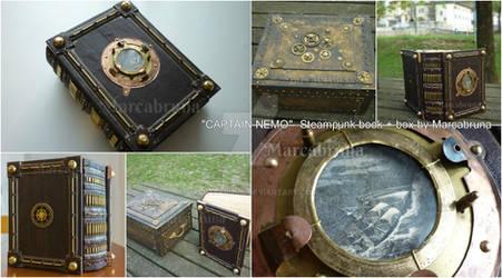 CAPTAIN NEMO Steampunk book + box