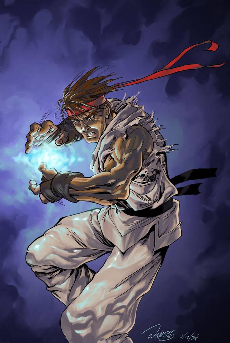 Ryu's HadouKen by Flatliner74 on DeviantArt