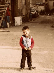 a little happy man from slums of Nikosia by mabelzey