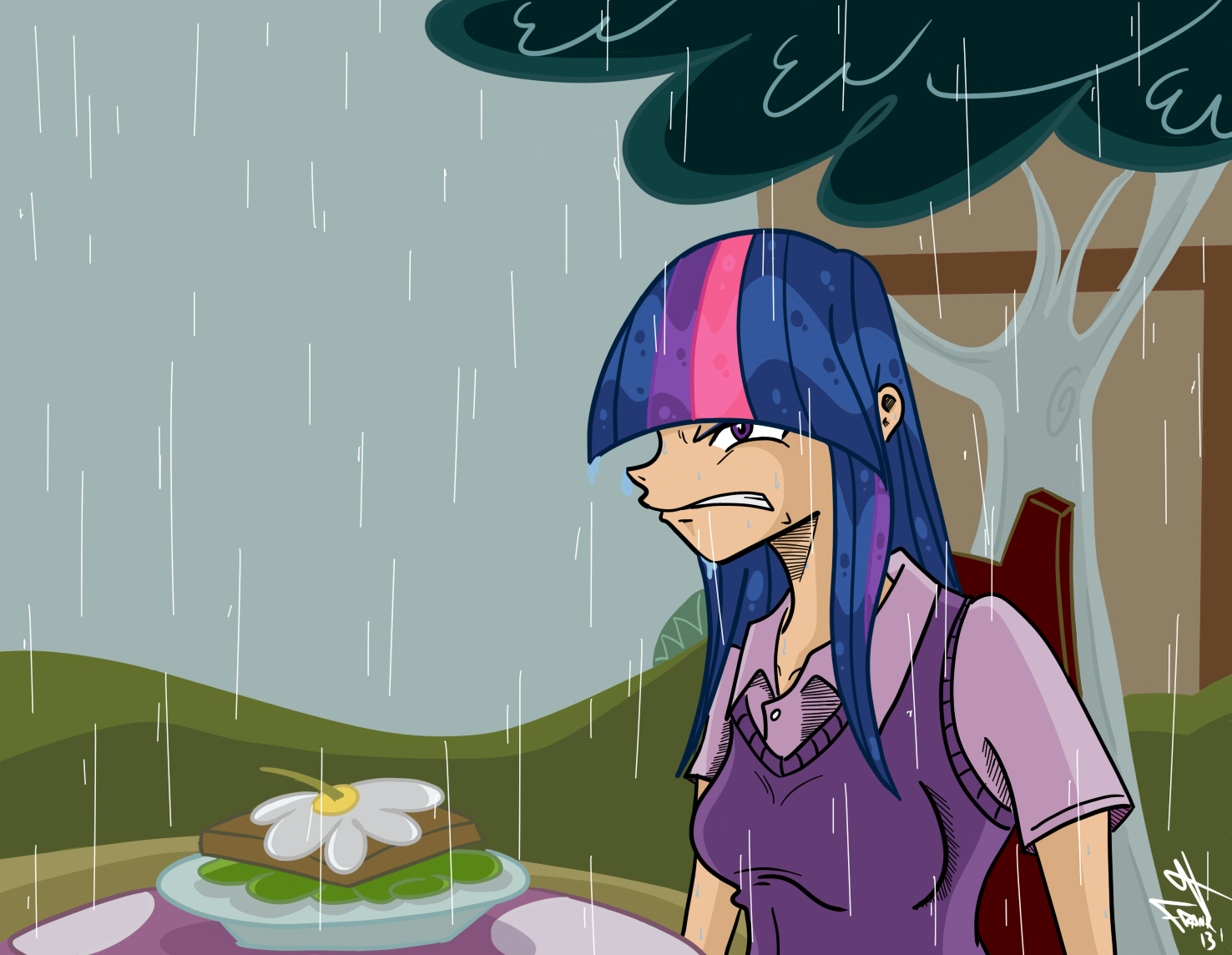 Twilight! Its raining! by frankaraya