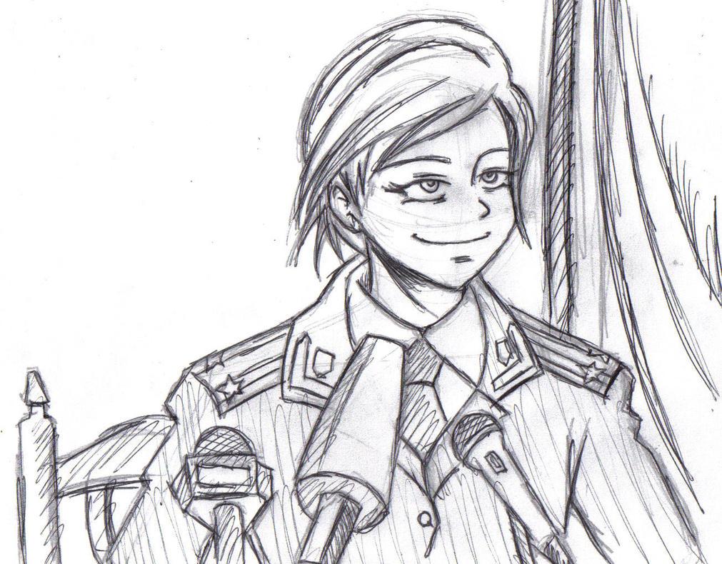Natalia Poklonskaya (sketch) by frankaraya