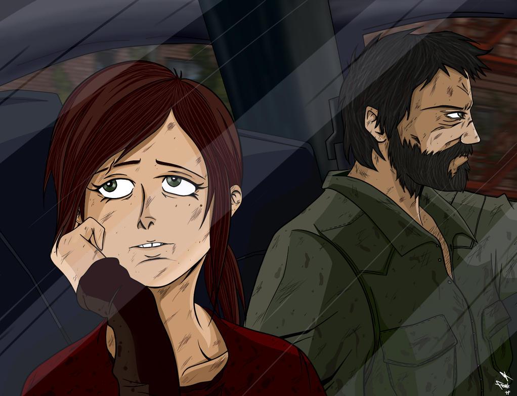 Ellie and Joel (Colored) by frankaraya