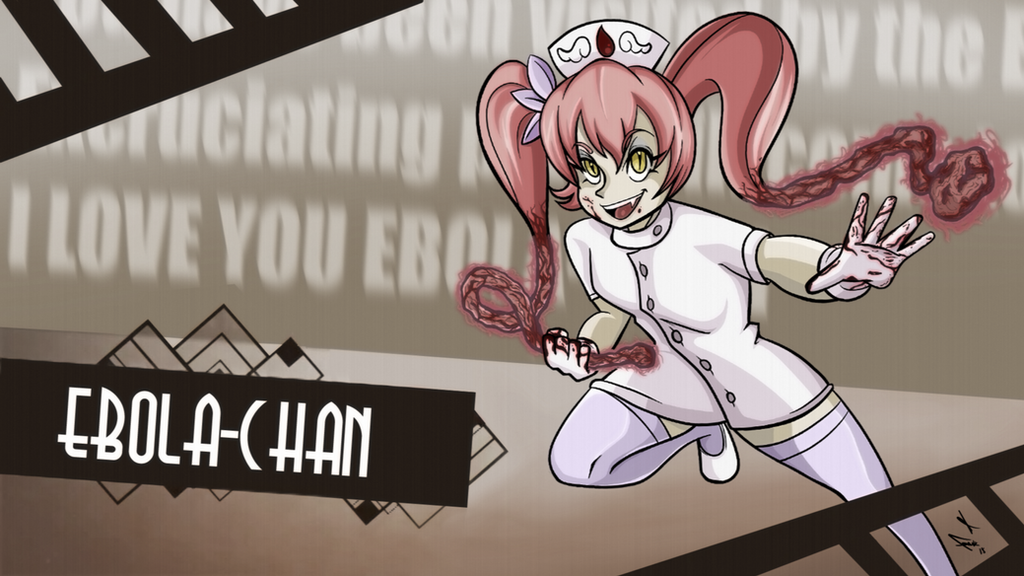 Ebola-Chan: Skullgirls Style Poster by frankaraya