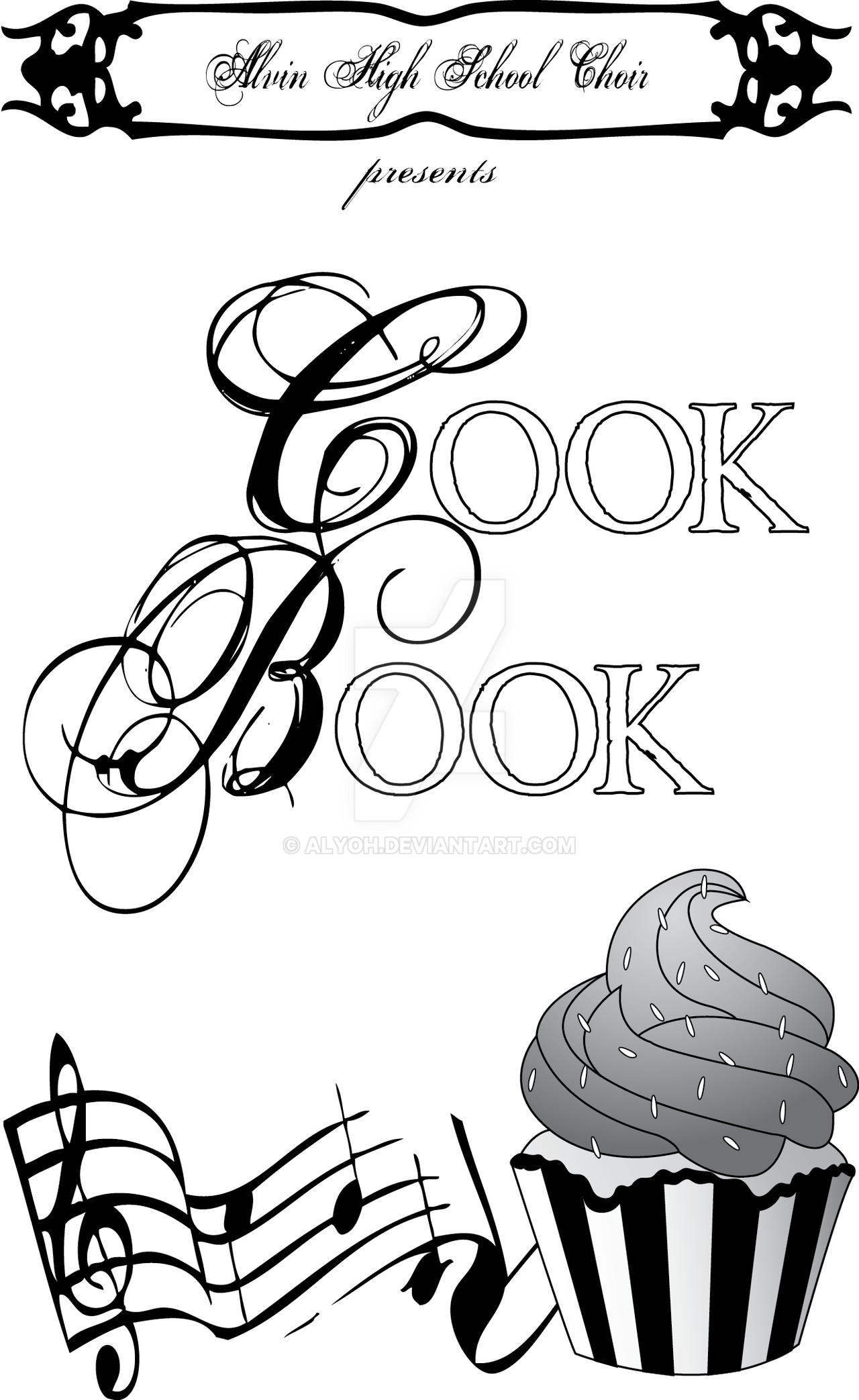 Cookbook Cover Coloring Page : Choir cookbook cover by alyoh on deviantart
