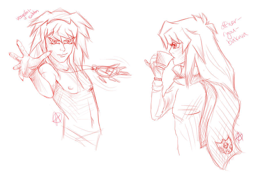 tumblr bakura doodles by AlyOh