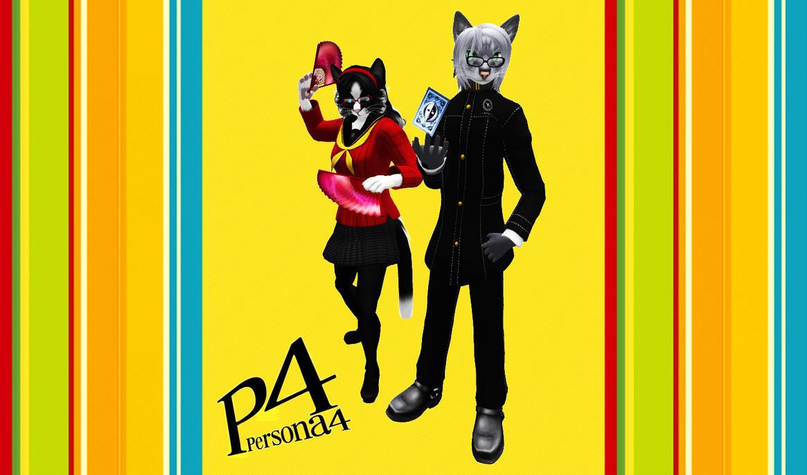 Feline Persona 4 Characters by sadsiren